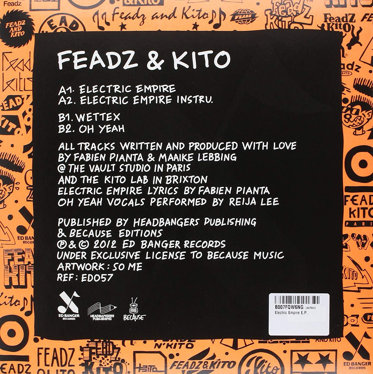 Ed banger Animated music video parallel studio feadz and kitto electric empire logo