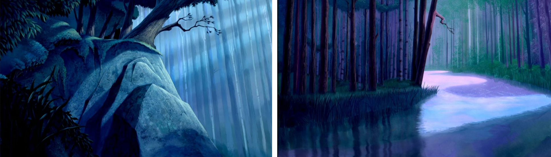 Background design de Pocahontas inspiration Huygens illustration animee par Parallel Studio