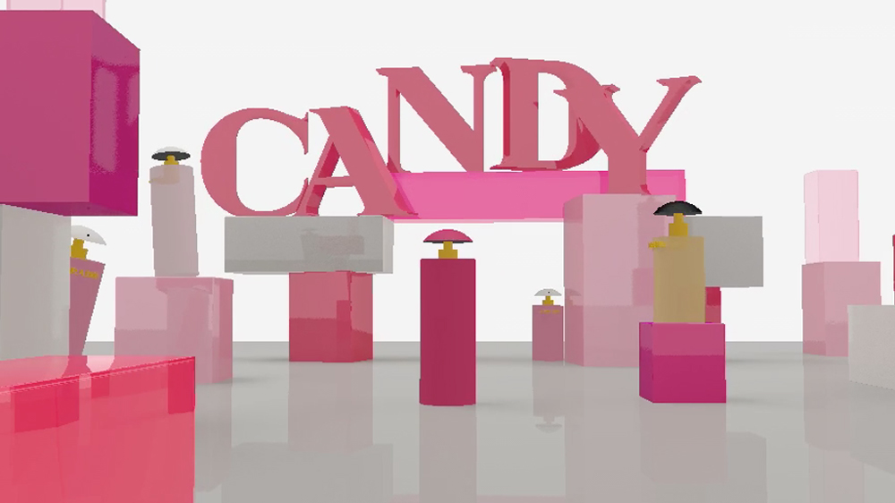 Prada Candy Gloss stop motion parfum making of animatic 3D Parallel Studio