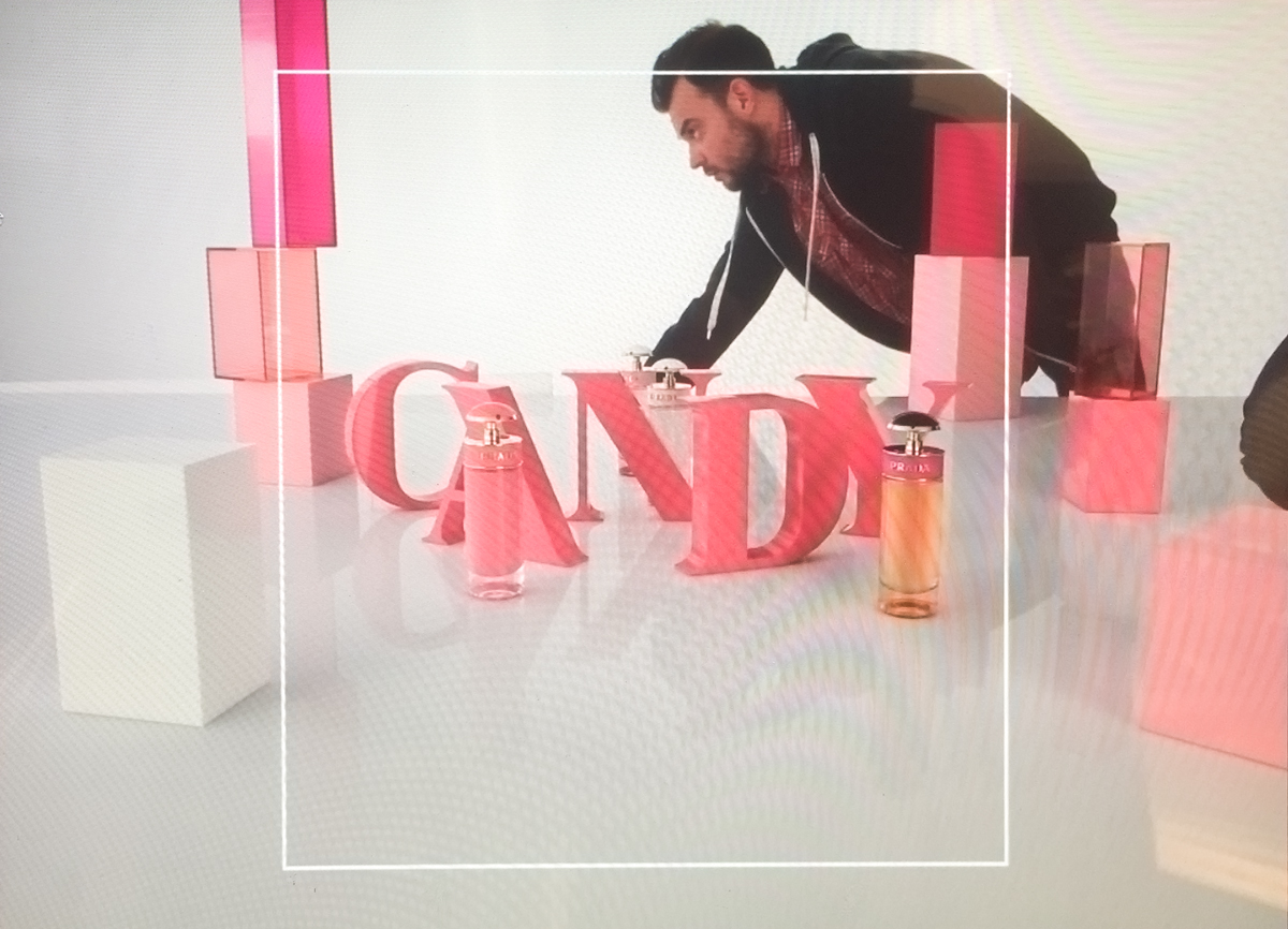 Prada Candy Gloss stop motion luxe set design parfum decor Parallel studio