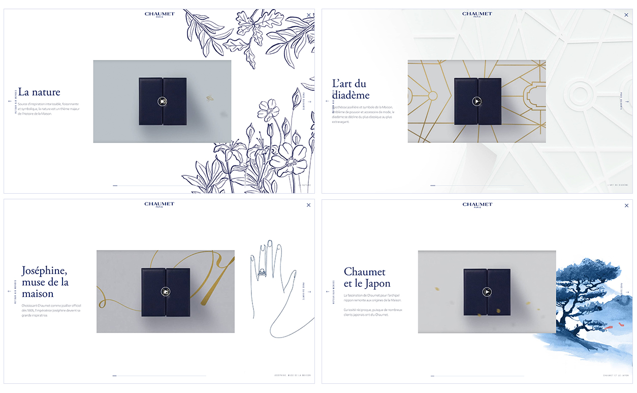 web site chaumet the worlds of chaumet parallel studio motion design