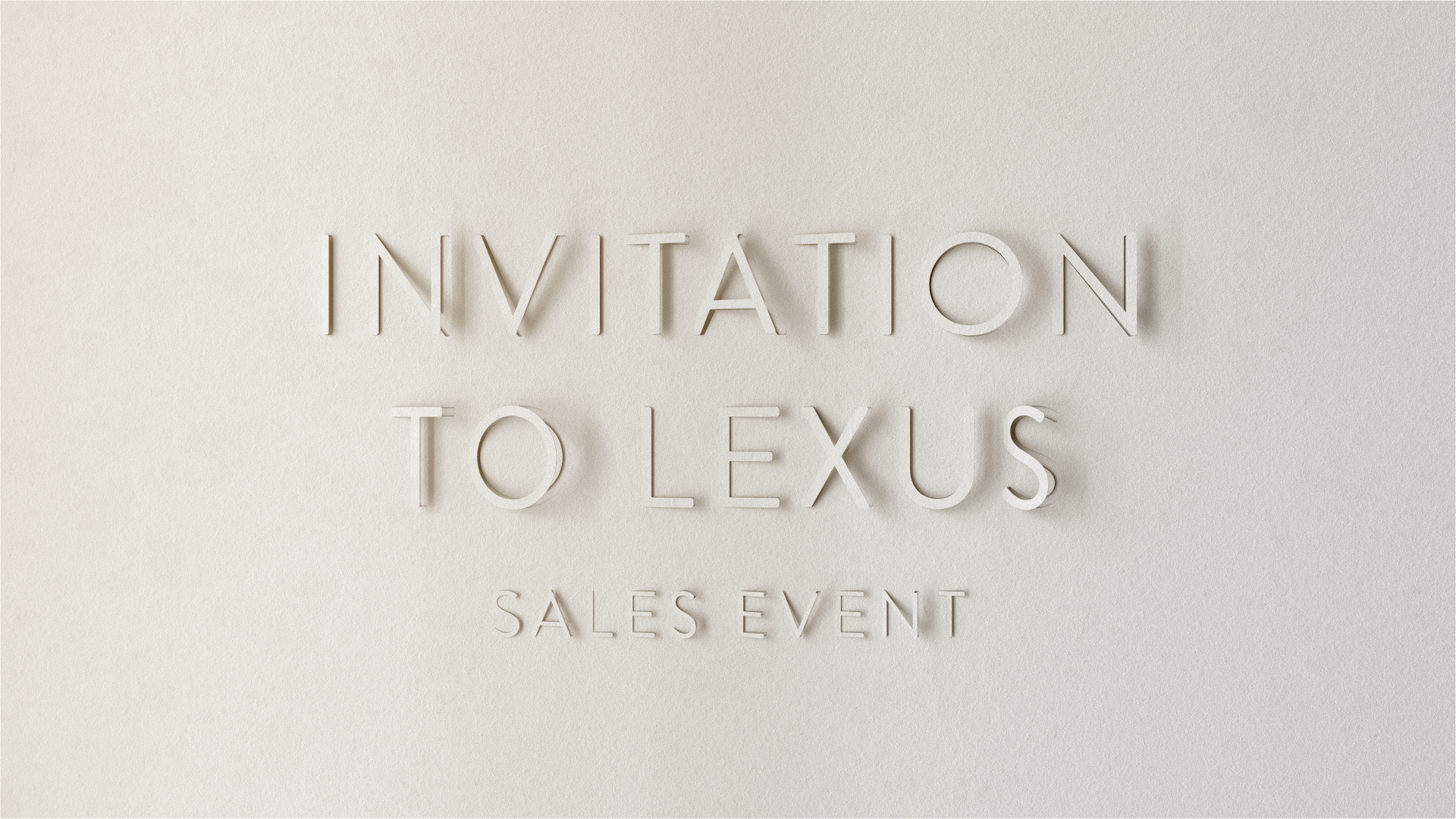 lexus paper animation invitation early test